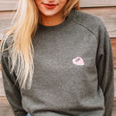 Love Heart Embroidered Organic Cotton Jumper