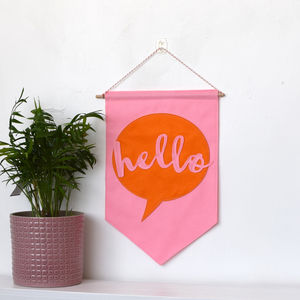 Hello Banner Flag - hanging decorations