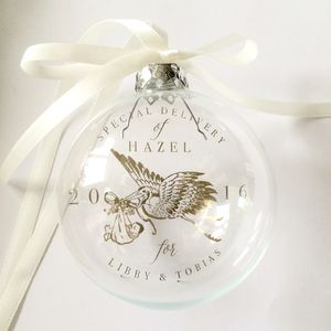 Baby's First Bauble Personalised Gift - gifts for babies