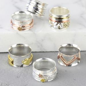 Personalised Sterling Silver Spinning Ring - rings