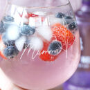 Personalised Birth Flower Cocktail Glass