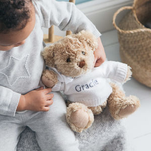 Personalised Bertie Bear - new baby gifts