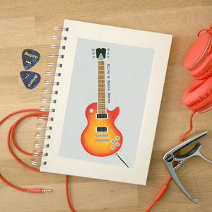 Personalised Music Notebook - writing