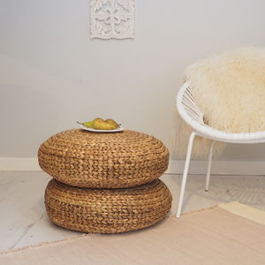 Wicker Pouffe Cushion - footstools & pouffes