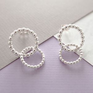 Silver Double Bubble Earrings