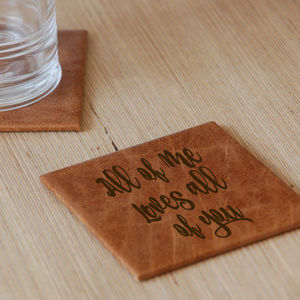 All Of Me Leather Coaster - dining room