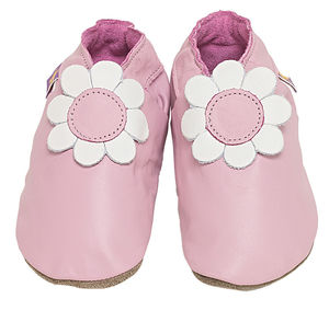 Soft Leather Baby Shoes Daisy - babies' slippers