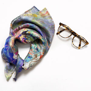 Colourful Silk Square Scarf - scarves