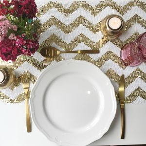 Chevron Sequin Table Runner - kitchen