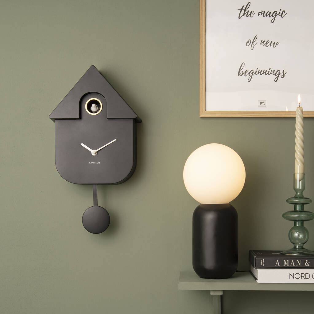 Modern Cuckoo Clock In Black By Idyll Home Notonthehighstreet Com