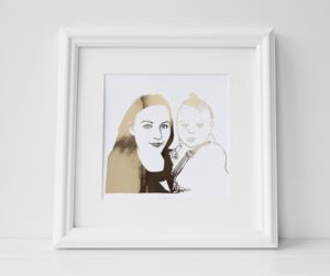 Personalised Foil Photograph Print - mother's day gifts