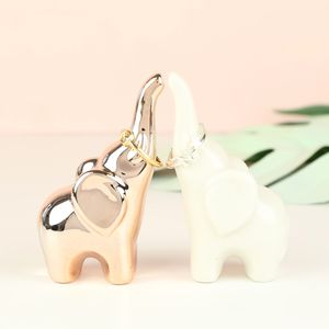 Set Of Two Small Elephant Ring Holders
