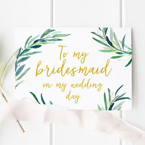 Botanical 'Thank You For Being My Bridesmaid' Card - view all sale items