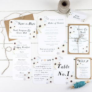 Faded Garden Wedding Stationery Range