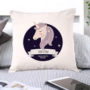 Personalised Stars Unicorn Magical Cushion Cover