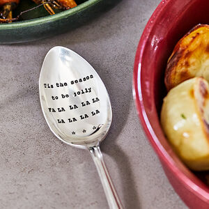 Personalised Vintage Silver Plated Table Spoon