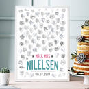 Personalised Wedding Guest Book Print 50 Or 80 Hearts