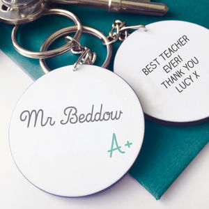 Personalised A+ Teacher Keyring - men's accessories