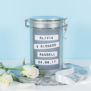 Personalised Wedding Coffee Gift Tin - personalised