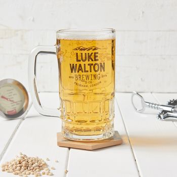 Personalised Brewing Beer Tankard