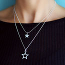 Layered Star Necklace Set