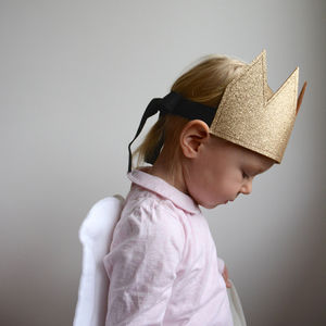 Glitter Crown Dress Up Gold