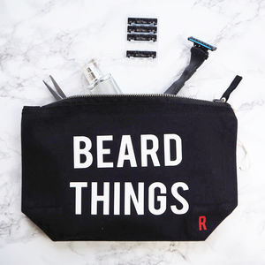 Beard Things Wash Bag - make-up & wash bags