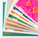 Colourways Risograph Travel Lover's Typography Map Print