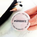 Graduation Personalised Pocket Mirror