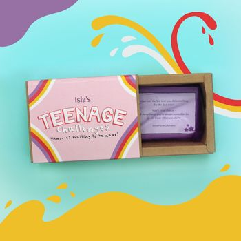 Personalised Teenage Girl Gift Challenges Game