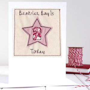Personalised Star Age Birthday Card