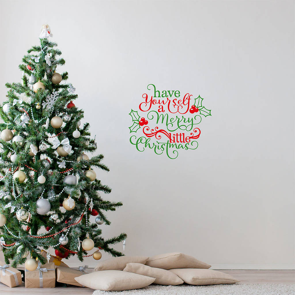 Have yourself a merry little christmas wall sticker by bubblegum have yourself a merry little christmas wall sticker solutioingenieria Image collections