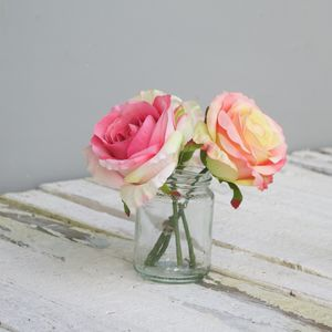 Faux Rose Bouquet - flowers & plants