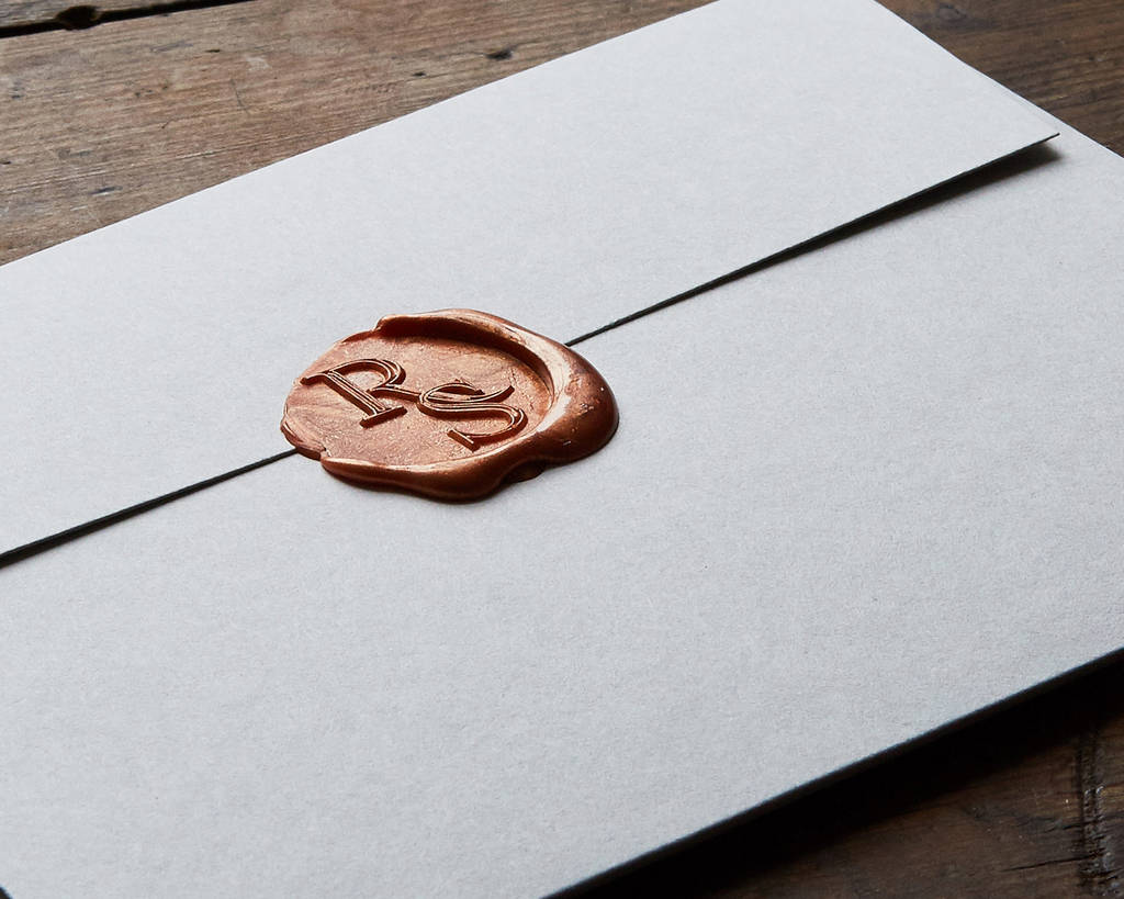 Wax Seals For Wedding Invitations: Wax Seal Letterpress Wedding Invitation By Wolf & Ink