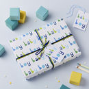 Baby Boy Wrapping Paper Set