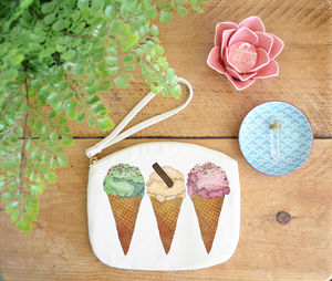 Ice Cream Canvas Purse