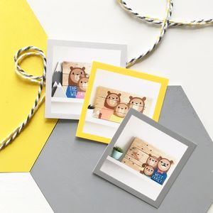 Personalised Bear Family Portrait Gift Card