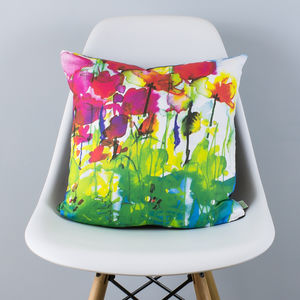 Butterfly Watercolour Cushion - summer home