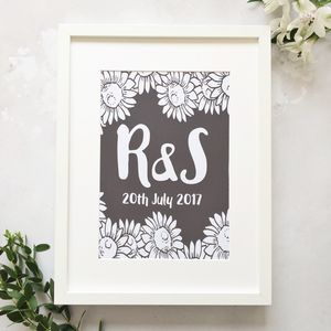 Personalised Sunflower Print
