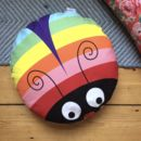 Rainbow Bug Floor Cushion