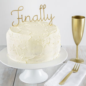 Finally Cake Topper - cake decorations & toppers