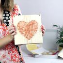 Heart String Art Craft Kit