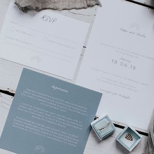 Leaf Detail Wedding Invitation Set - order of service & programs
