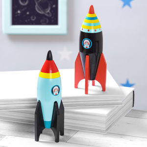 Wooden Space Rocket - wooden toys