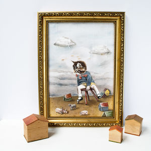 Little Tom Kitten In A Nursery Artwork Print - whatsnew