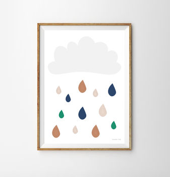 Cloud Children's Nursery Print