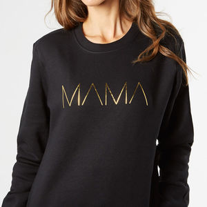 Mama Metallic Womens New Mum Mother Sweatshirt - sweatshirts & hoodies