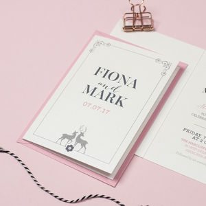 'Stag' Wedding Invitation