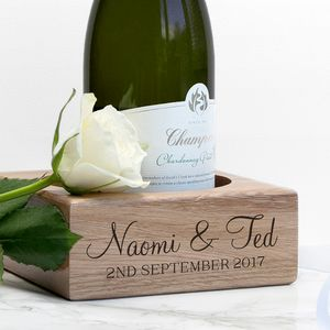 Personalised Wooden Bottle Holder - kitchen