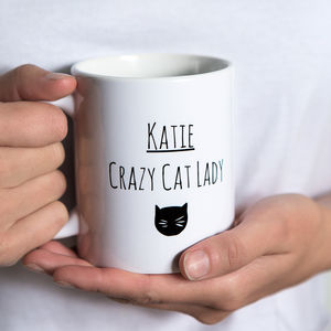 'Personalised' Cat Lady Mug - gifts for her